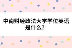 中南财经政法大学学位英语是什么?