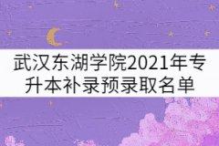 武汉东湖学院2021年专升本补录预录取考生名单公示