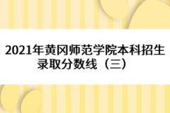 2021年黄冈师范学院本科招生录取分数线(三)